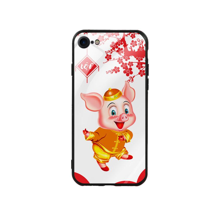 Ốp Lưng Kính Cường Lực cho điện thoại Iphone 7/ 8 - Pig 2019