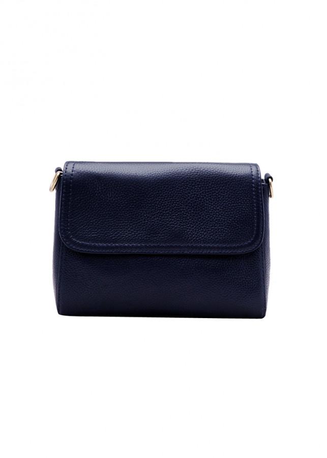 Túi đeo chéo nữ ELMI da bò thật màu xanh đen ET831