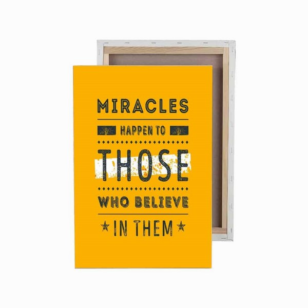Tranh Trang Trí Miracles Happen To Those Who Believe In Them  (40 x 60 cm) - 9473474 , 7616251626574 , 62_7747869 , 1536000 , Tranh-Trang-Tri-Miracles-Happen-To-Those-Who-Believe-In-Them-40-x-60-cm-62_7747869 , tiki.vn , Tranh Trang Trí Miracles Happen To Those Who Believe In Them  (40 x 60 cm)