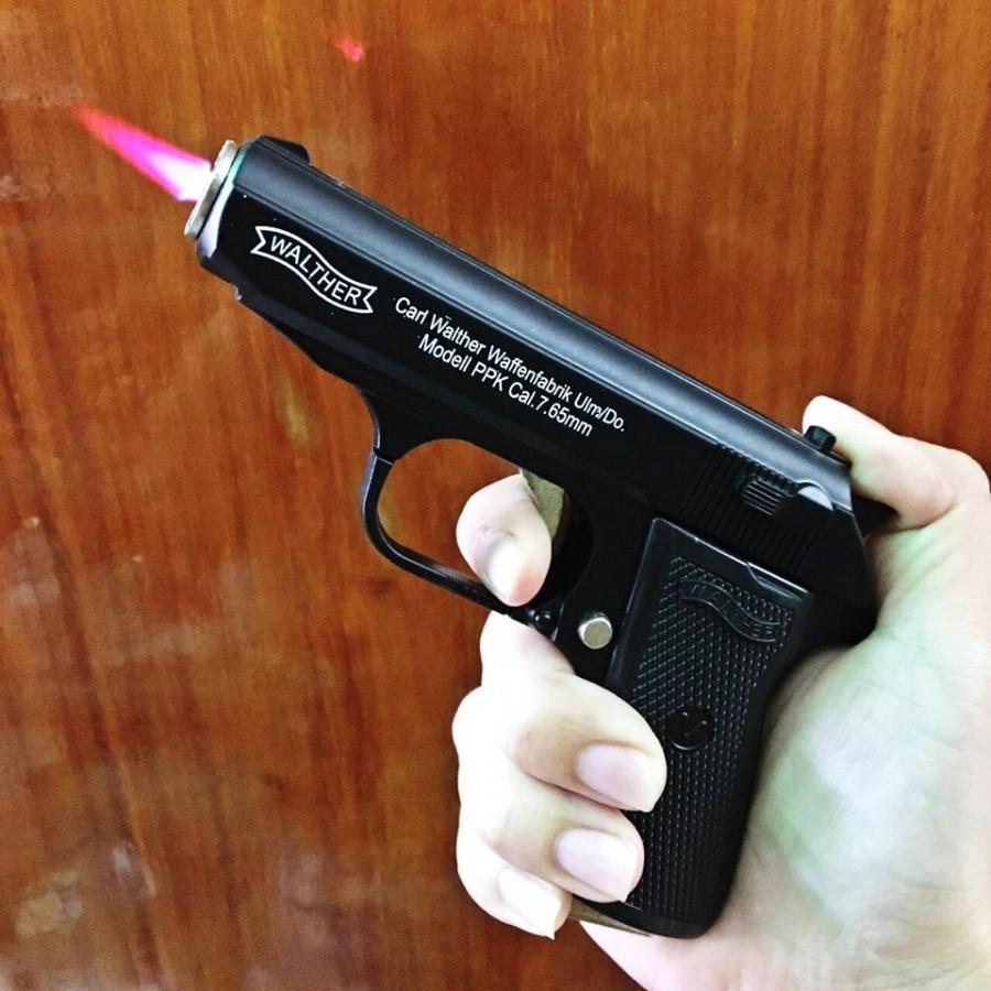 Bật Lửa Hình Súng M9 Carl Walther 3in1 (Bật Lửa, Súng, Dao Bấm) Size: 13cm - (Xài Gas)