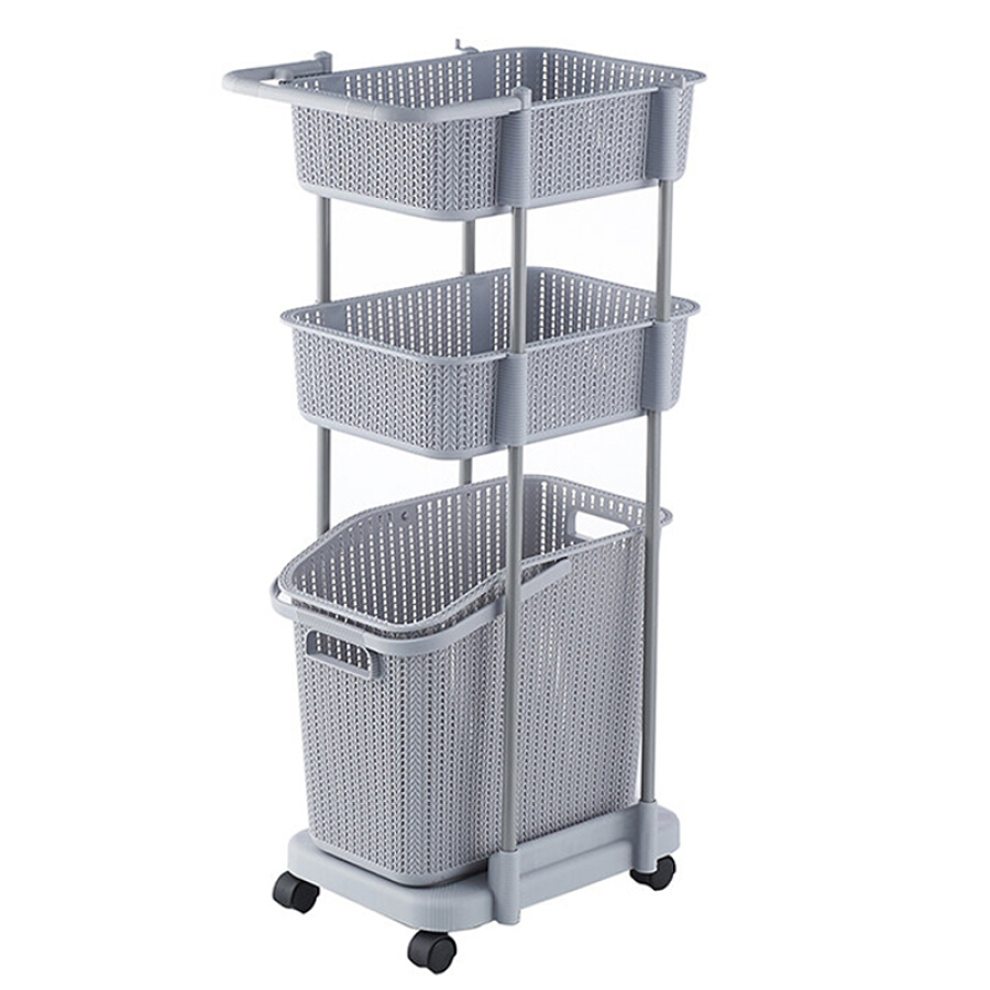 Jinghuisi Chuang JH0640 hamper laundry basket  thick removable mobile storage box rack storage basket gray - 4767606 , 7020626574085 , 62_10383212 , 1692000 , Jinghuisi-Chuang-JH0640-hamper-laundry-basket-thick-removable-mobile-storage-box-rack-storage-basket-gray-62_10383212 , tiki.vn , Jinghuisi Chuang JH0640 hamper laundry basket  thick removable mobile