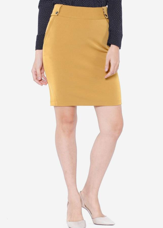 Chân Váy Nữ Đáp Sườn VDS2082VA - Vàng