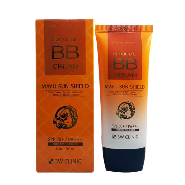 Kem nền BB Cream Horse Oil 3W Clinic Mayu Sun Shield SPF50 50ml - 1063439 , 9983966795115 , 62_3599681 , 205000 , Kem-nen-BB-Cream-Horse-Oil-3W-Clinic-Mayu-Sun-Shield-SPF50-50ml-62_3599681 , tiki.vn , Kem nền BB Cream Horse Oil 3W Clinic Mayu Sun Shield SPF50 50ml