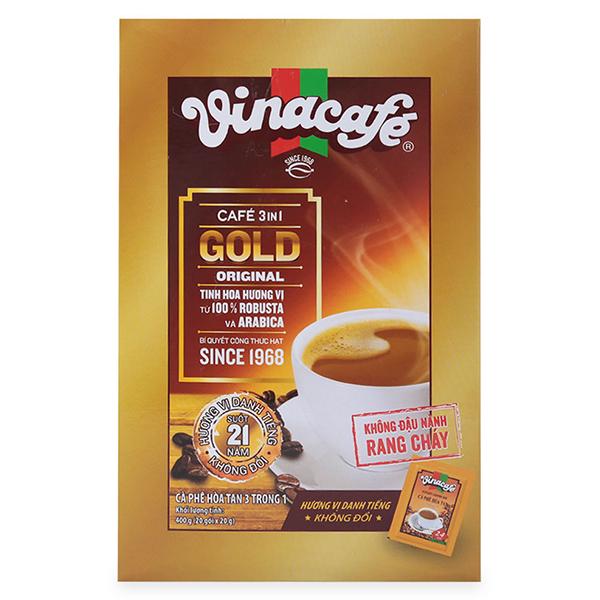 Hộp 20 Gói Cà Phê Sữa 3 In 1 Gold Vinacafé (20g / Gói)