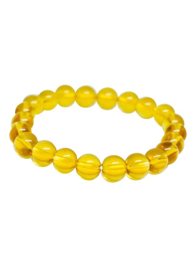 Vòng tay đá HLPT218 Thạch Anh vàng 8 Ly