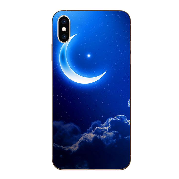 Ốp lưng dẻo cho Iphone XS Max - Moon 01