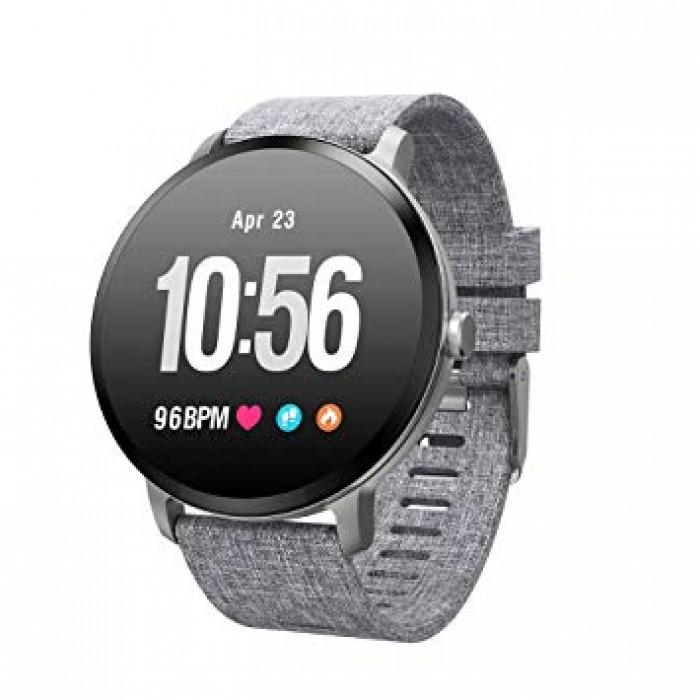 Đồng hồ thông minh chống nước theo dõi sức khỏe đo nhịp tim smartwatch V11 (Xám)
