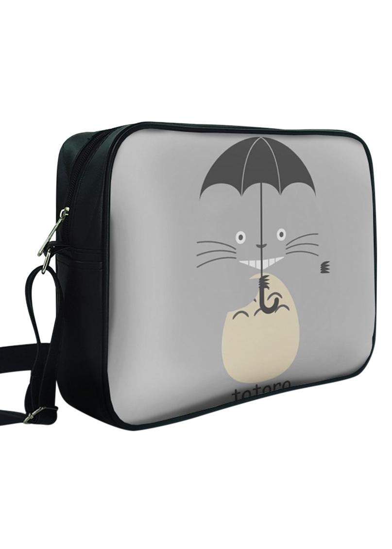 Túi Đeo Chéo Hộp Unisex In Hình Totoro Cầm Dù - TCMA233