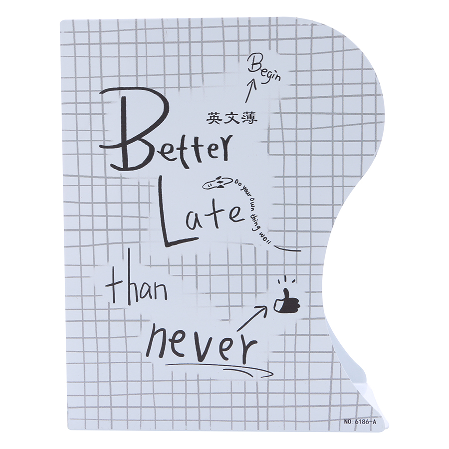Kệ Chặn Sách Xếp - Better Late Than Never