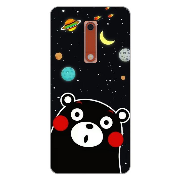 Ốp lưng dẻo cho điện thoại Nokia 5_0345 BEAR03 - Hàng Chính Hãng