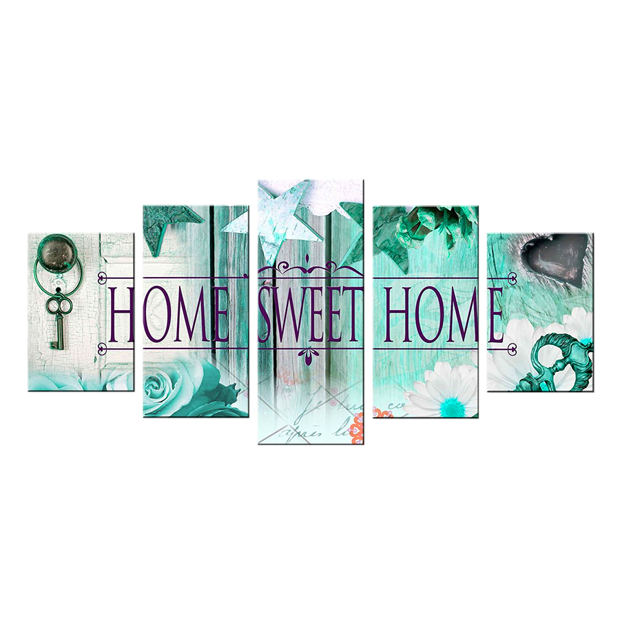 Bộ 5 Tranh Sơn Dầu Home Sweet Home (20x30x2 / 20x40x2 / 20x50x1 cm) - 2032591 , 7202730131778 , 62_11215196 , 421000 , Bo-5-Tranh-Son-Dau-Home-Sweet-Home-20x30x2--20x40x2--20x50x1-cm-62_11215196 , tiki.vn , Bộ 5 Tranh Sơn Dầu Home Sweet Home (20x30x2 / 20x40x2 / 20x50x1 cm)