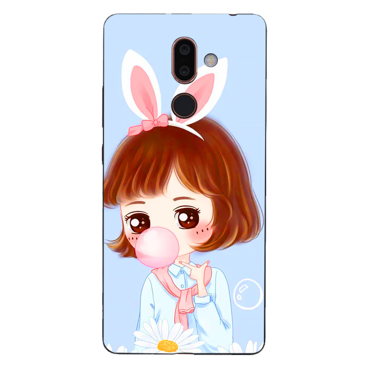 Ốp lưng dẻo cho điện thoại Nokia 7 Plus - Baby Girl 03