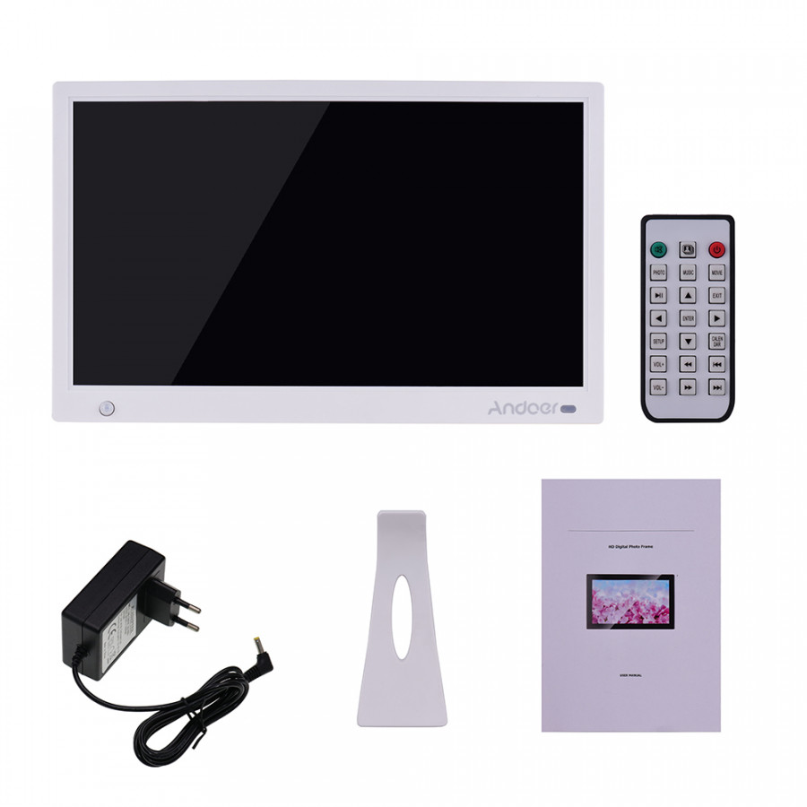 Andoer 15.6 Inch 1920x1080 IPS LED Digital Photo Frame Electronic Picture Album Advertising Machine Scroll Subtitle - 2370865 , 8626118415943 , 62_15523903 , 3427000 , Andoer-15.6-Inch-1920x1080-IPS-LED-Digital-Photo-Frame-Electronic-Picture-Album-Advertising-Machine-Scroll-Subtitle-62_15523903 , tiki.vn , Andoer 15.6 Inch 1920x1080 IPS LED Digital Photo Frame Elect