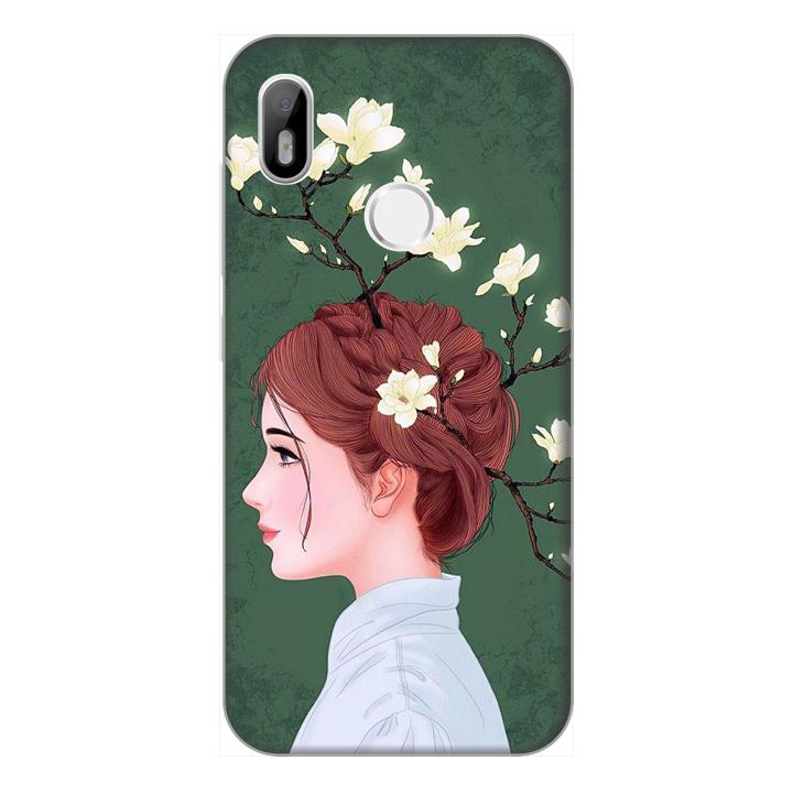 Ốp lưng điện thoại Vsmart Joy 1 hình Cô Gái Tóc Hoa - Hàng chính hãng
