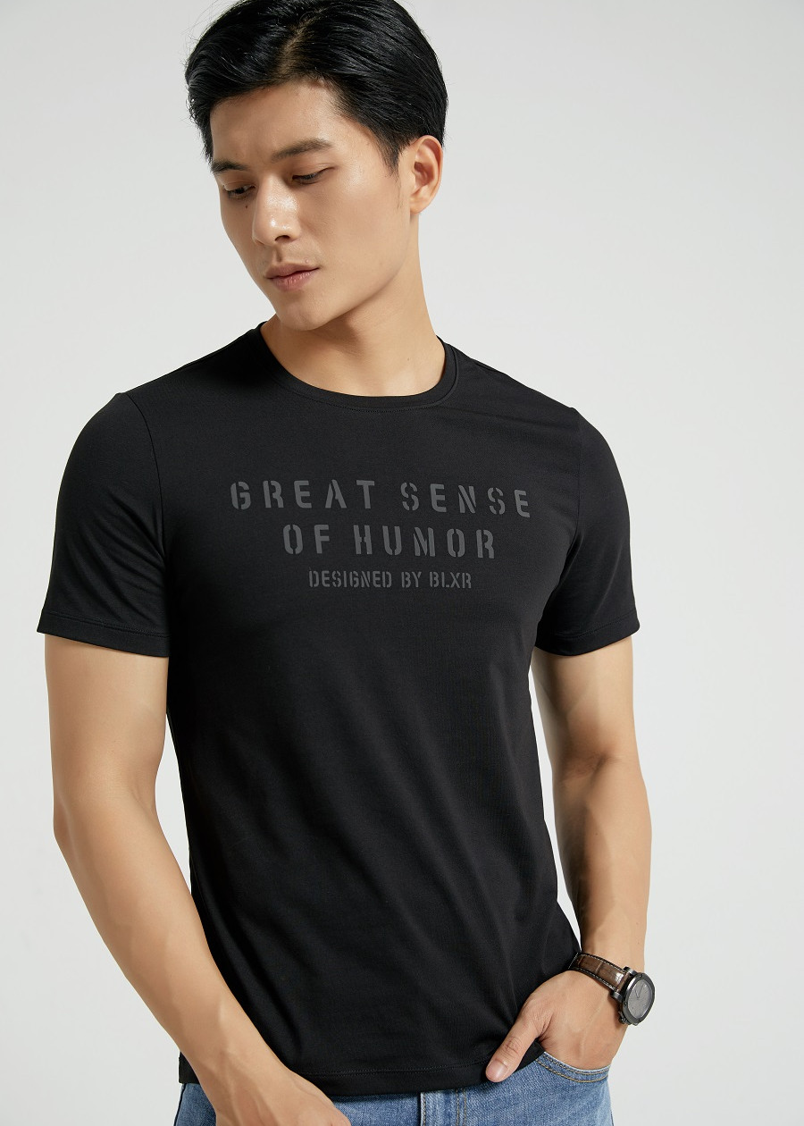 Áo Phông Nam In Chữ Biluxury Màu Đen (APKH018DEN)