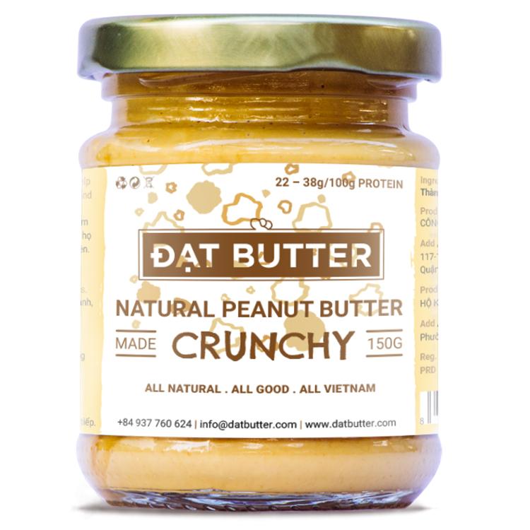 Bơ Đậu Phộng Tự Nhiên Có Hạt Đạt Butter (150g)