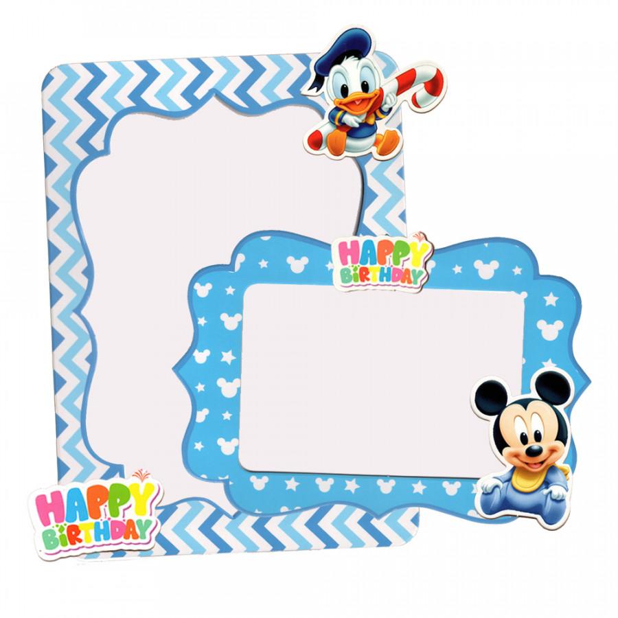 Bộ 2 khung hình giấy để bàn trang trí sinh nhật - mickey