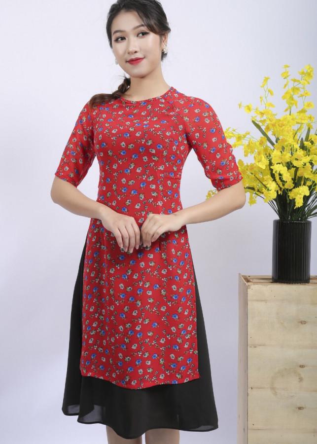 Áo dài cách tân liền chân váy hoa nhí - 2159979 , 7800255121252 , 62_13803281 , 380000 , Ao-dai-cach-tan-lien-chan-vay-hoa-nhi-62_13803281 , tiki.vn , Áo dài cách tân liền chân váy hoa nhí