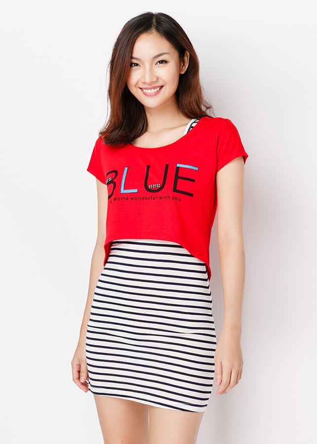 Set Đầm + Áo Mullet Blue - Đỏ - Citino