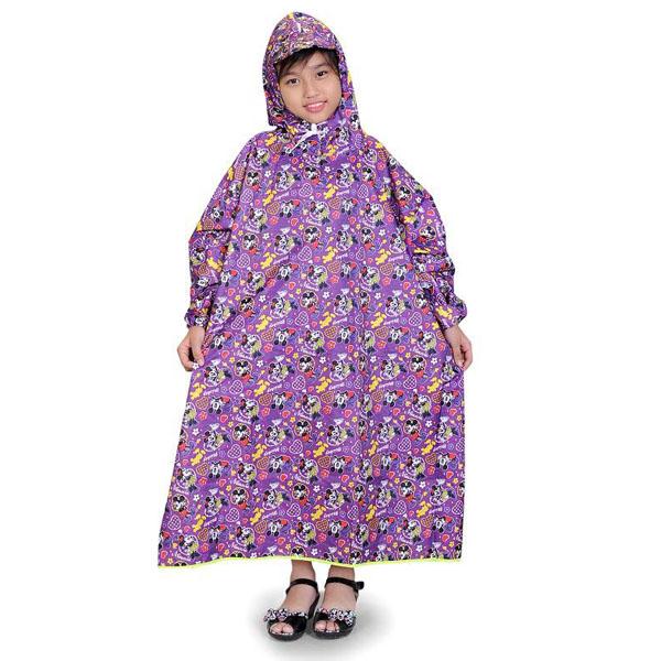 Áo Mưa Trẻ Em Vải Dù Bít 2 Bên từ 6 đến 11 tuổi Phú Hiển Store