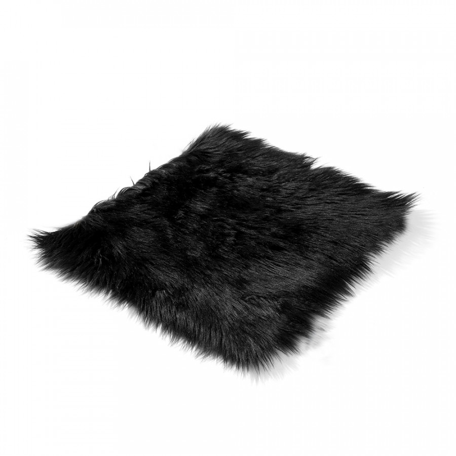"""Sheepskin Seat Cover Car Seat Wool Cushion Pad 18X18"""" Winter Soft Warm Front Seat Covers for Home Office Automobile"""