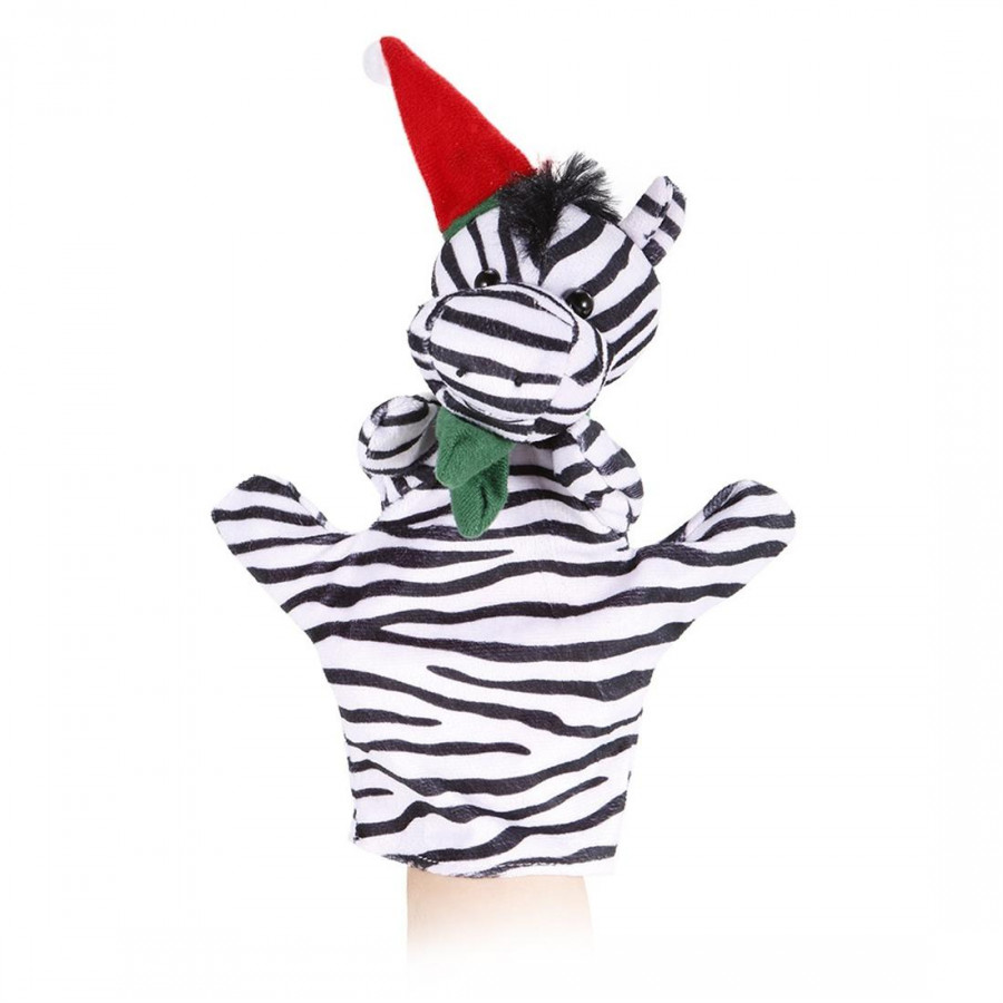 Hand Puppets Cute Cartoon Zebra Christmas Plush Toys Plush Dolls Children Christmas Toys