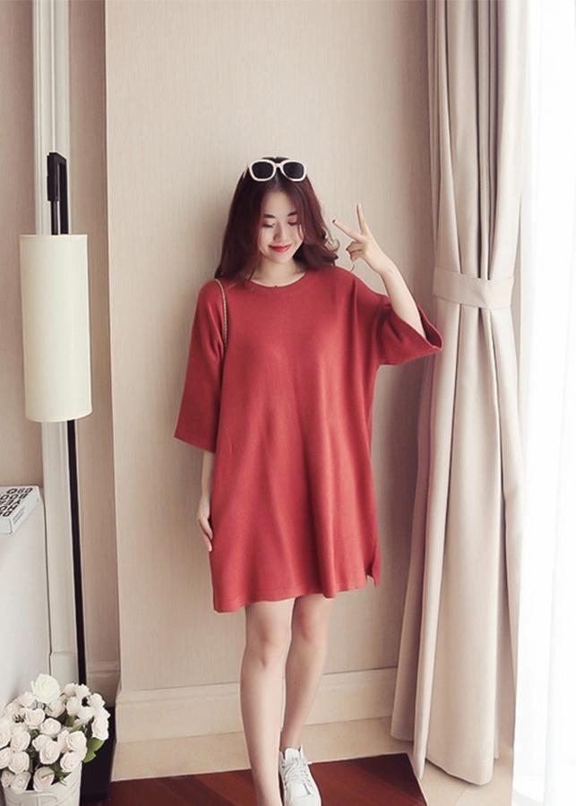 Đầm Len Suông Nơ Lưng (Freesize)