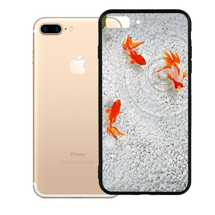Ốp lưng viền TPU cao cấp dành cho iPhone 7 Plus - Cá Koi 02