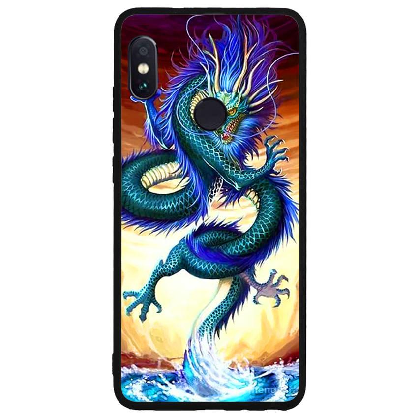 Ốp lưng nhựa cứng viền dẻo TPU cho điện thoại Xiaomi Redmi Note 5 -Dragon 10