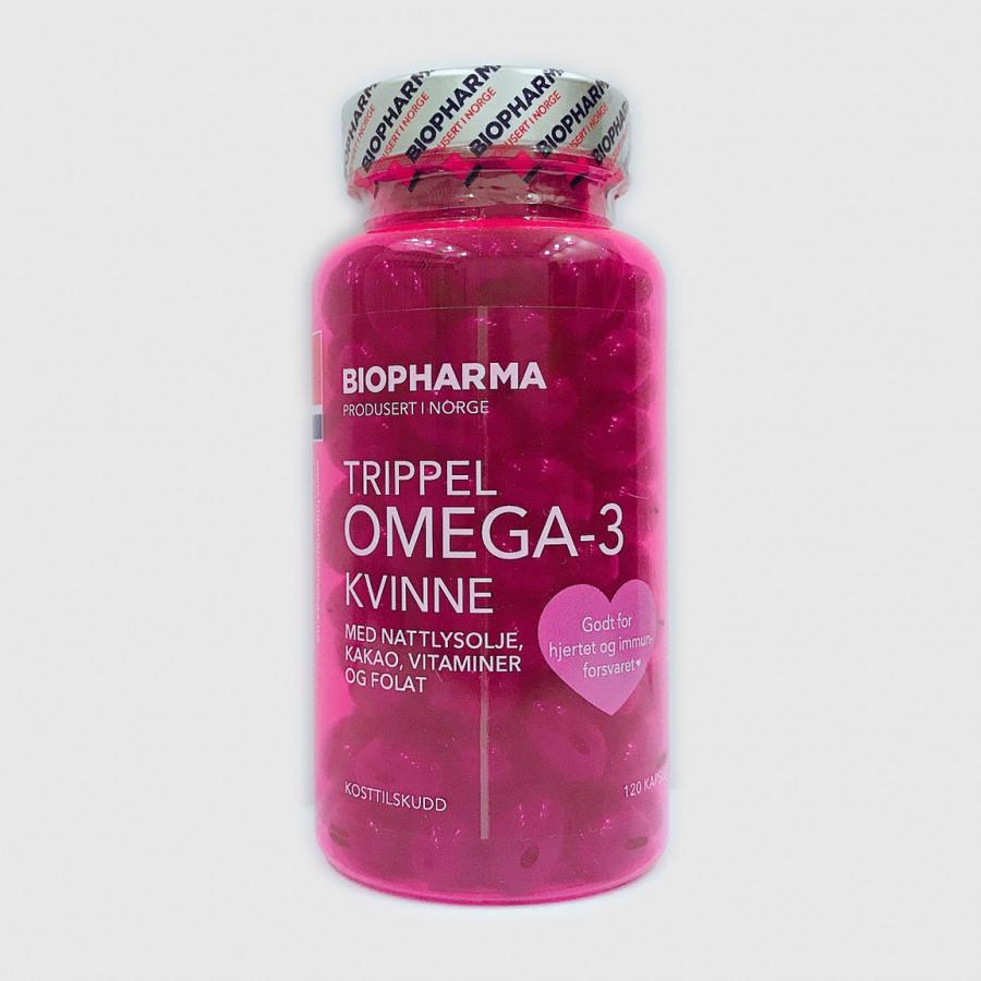 Dầu cá Omega 3 Na-uy cho Phụ nữ và người mang thai(TRIPPEL OMEGA 3 KVINNE)