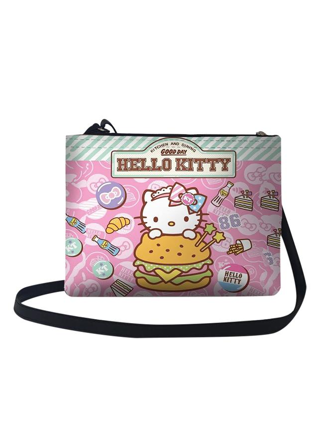 Túi Đeo Chéo Nữ In Hình Hello Kitty Hamburger - TUCT015 (24 x 17 cm)