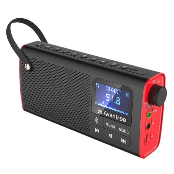 Loa Bluetooth mini kiêm đài FM - AVANTREE SP850 - A2023  - Hỗ trợ jack cắm tai nghe, khe cắm thẻ nhớ, thời gian chơi nhạc...