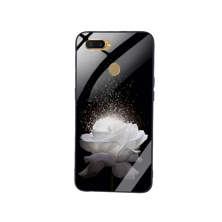 Ốp Lưng Kính Cường Lực cho điện thoại Oppo A7 -  0324 ROSE03