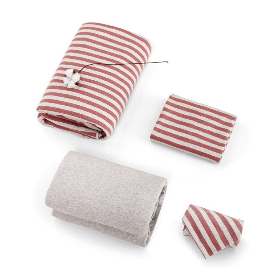 JING ZAO Cotton knitted beddings Skin soft stripes