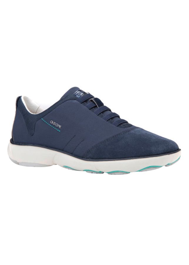Giày Sneakers Nữ GEOX D NEBULA C TEXTILE+SUEDE NAVY - Xanh Navy