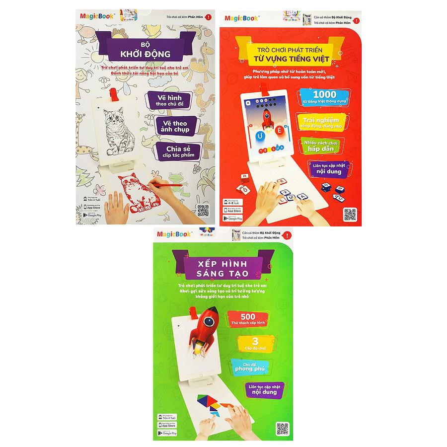 Magicbook Combo L-Box3: Bộ Vẽ Hình + Bộ Tiếng Việt + Bộ Xếp Hình Sáng Tạo