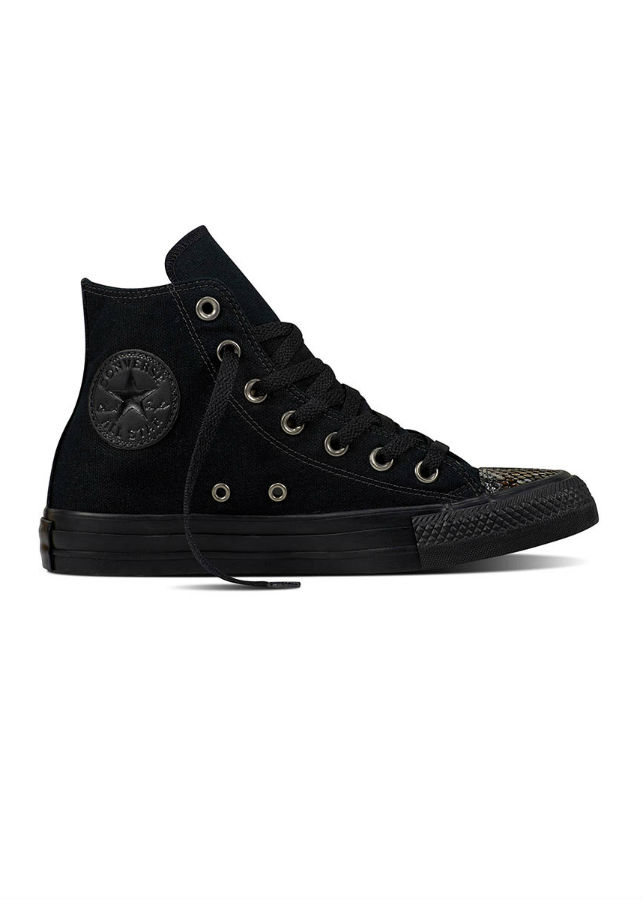 Giày Sneaker Unisex Chuck Taylor All Star Fashion Snake Toecap Converse 557922C - Black