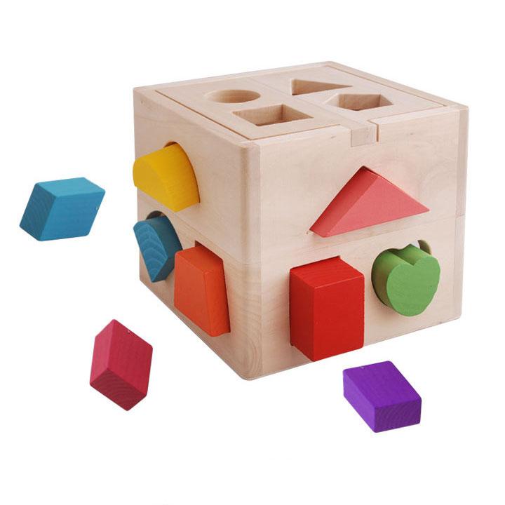 Hộp thả hình khối  đồ chơi giáo dục