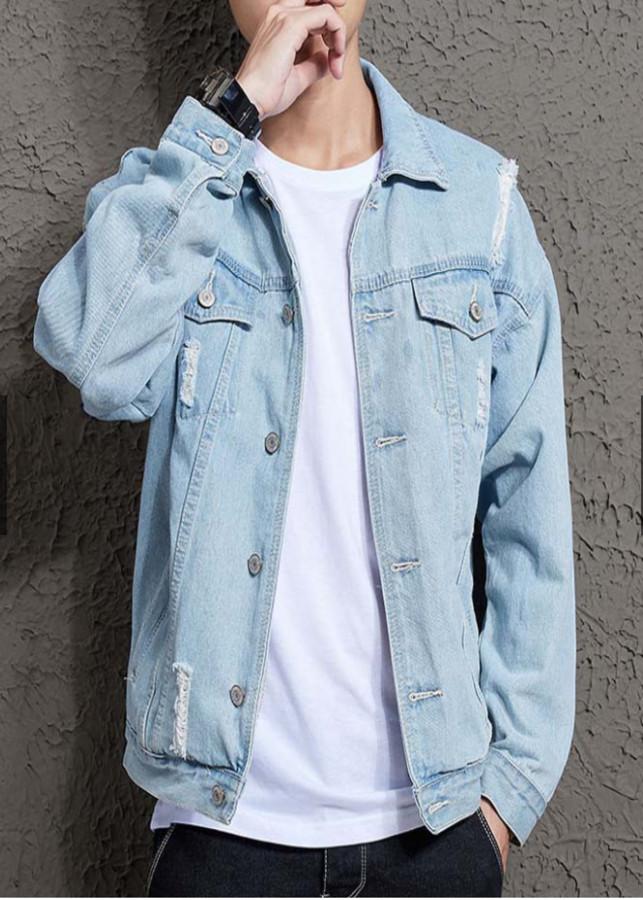 áo khoác jean màu xanh nhạt cá tính cbs900