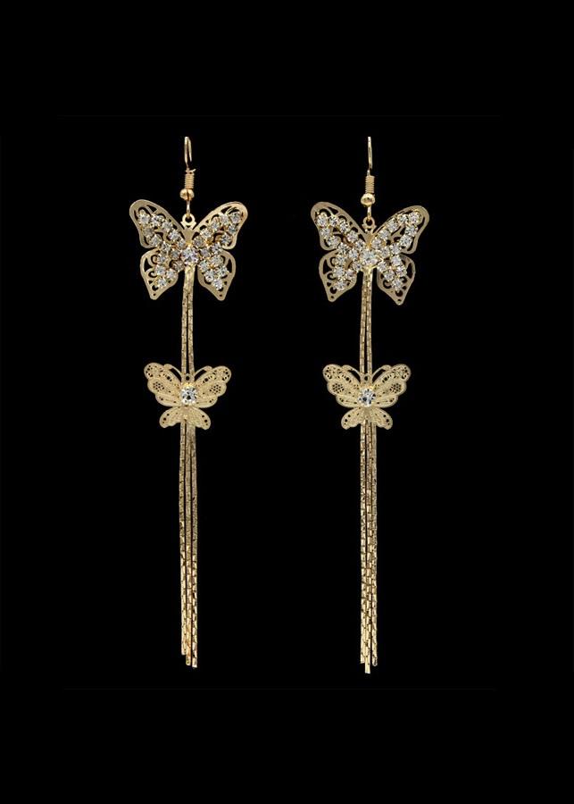 Bông tai hình cánh bướm đính đá tua rua dáng dài (Tặng kèm mặt nạ thiên nhiên Dermal) - 1857964 , 4259713747337 , 62_10070854 , 185000 , Bong-tai-hinh-canh-buom-dinh-da-tua-rua-dang-dai-Tang-kem-mat-na-thien-nhien-Dermal-62_10070854 , tiki.vn , Bông tai hình cánh bướm đính đá tua rua dáng dài (Tặng kèm mặt nạ thiên nhiên Dermal)