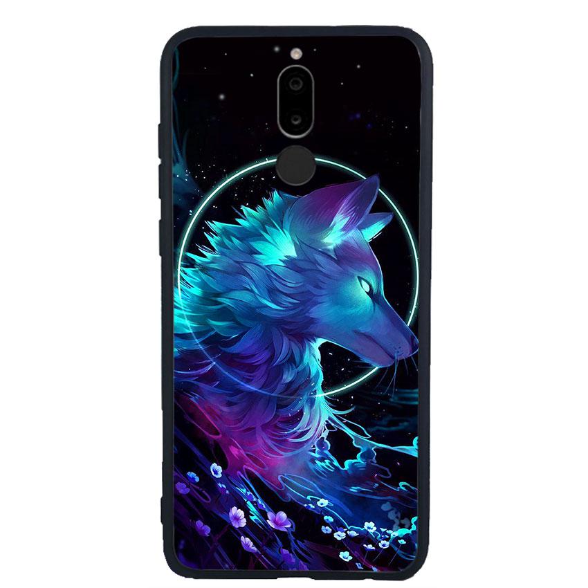 Ốp lưng nhựa cứng viền dẻo TPU cho điện thoại Huawei Nova 2i - Wolf