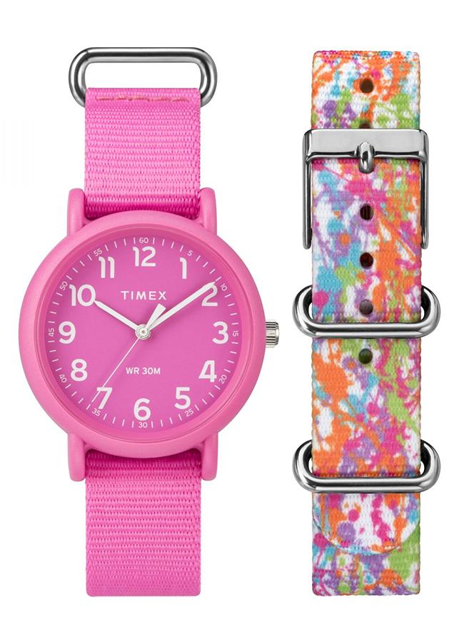 Đồng Hồ Dây Vải Nữ Timex Weekender Color Rush 34mm - TWG018100