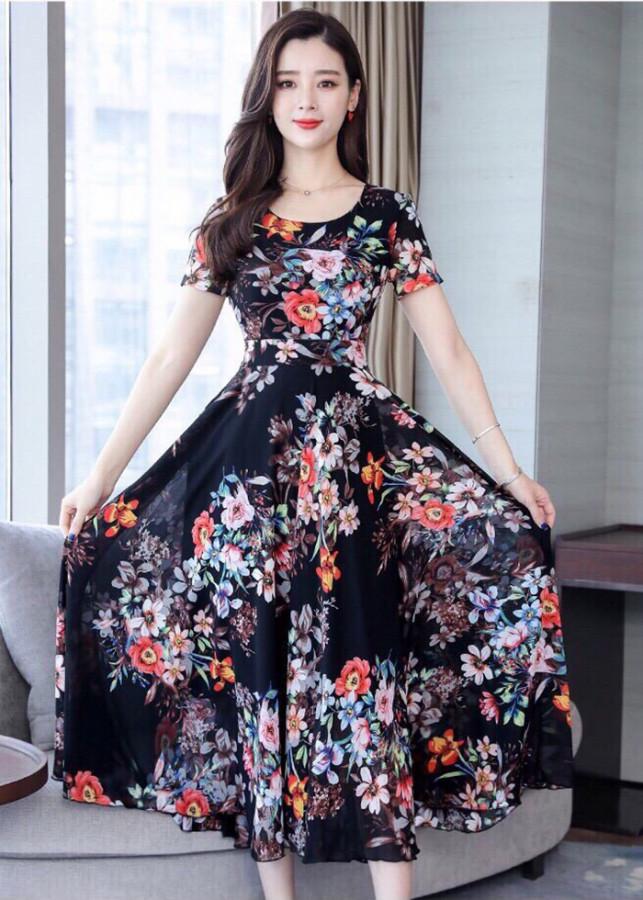 Đầm Voan Hoa Tiết Mùa Hè Siêu Việt TT- MTK916280