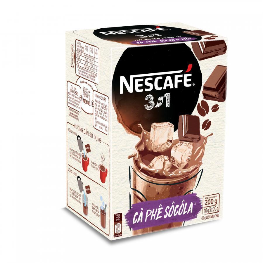 NESCAFÉ 3in1 Cà phê Sôcôla (10 gói x 20g) - 8934804031491,62_3077147,36000,tiki.vn,NESCAFE-3in1-Ca-phe-Socola-10-goi-x-20g-62_3077147,NESCAFÉ 3in1 Cà phê Sôcôla (10 gói x 20g)