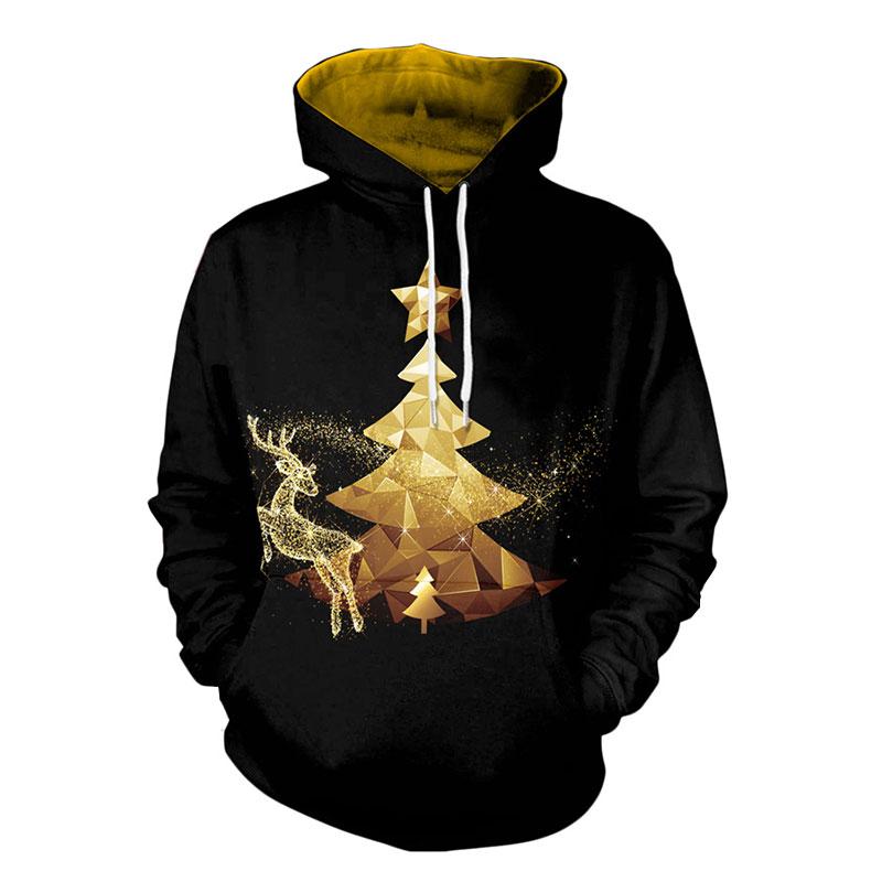 Christmas Fleece Printed Fleece Cool 3D M-2XL Party Outwear