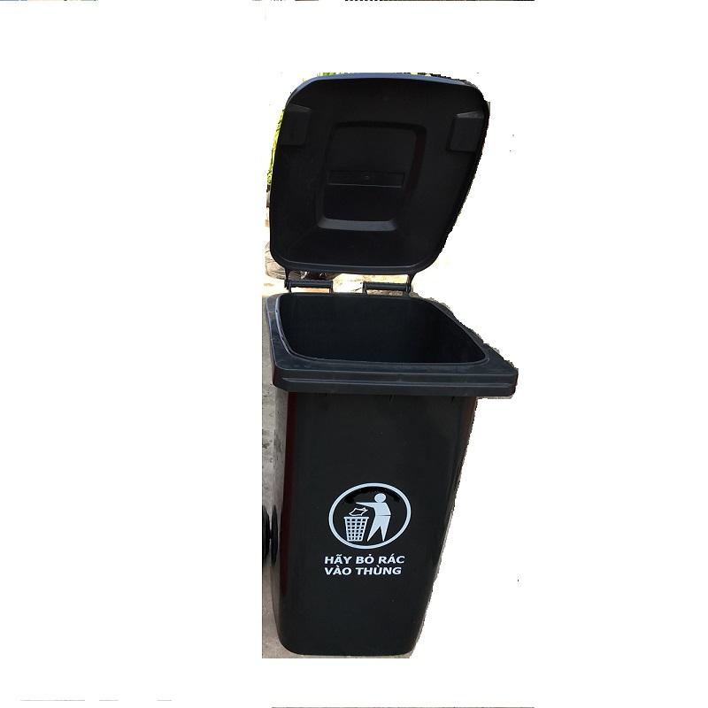 Thùng rác nhựa 240L màu đen