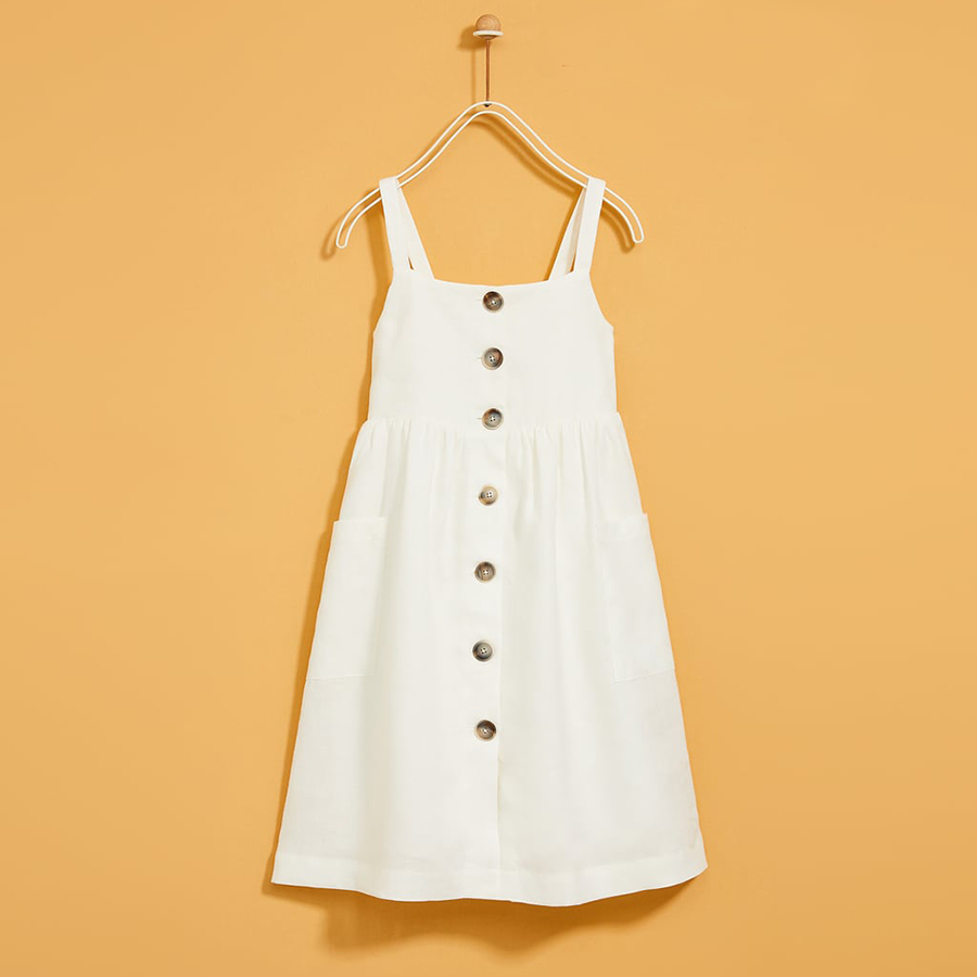 Đầm Zara Trắng Đũi