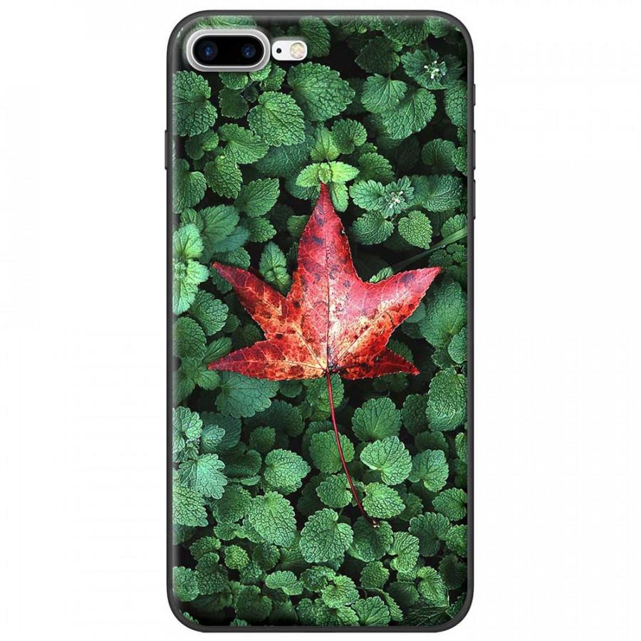 Ốp lưng dành cho iPhone 7 Plus mẫu Lá phông đỏ