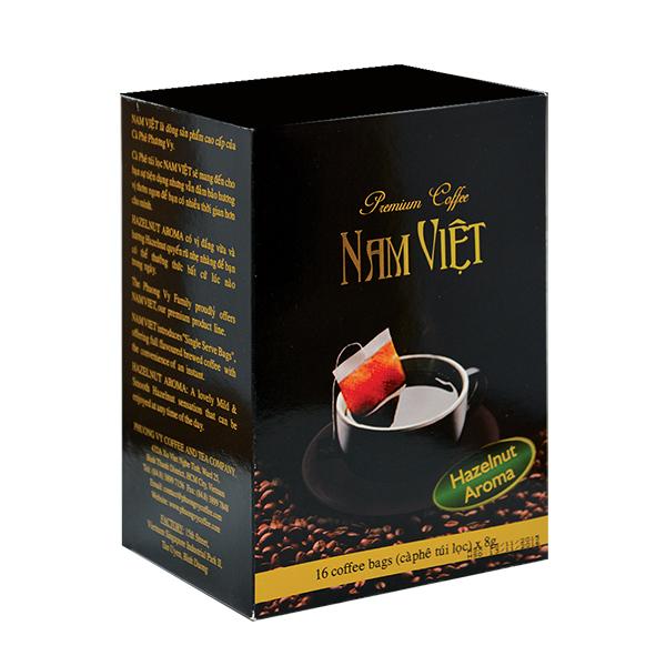 Cà phê Nam Việt Hazelnut Aroma 16 gói x 8g - Phương Vy