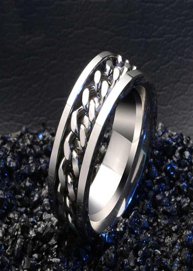 Nhẫn Titani nam dây xích cá tính R26 - 1116224 , 3087965407355 , 62_7031025 , 180000 , Nhan-Titani-nam-day-xich-ca-tinh-R26-62_7031025 , tiki.vn , Nhẫn Titani nam dây xích cá tính R26